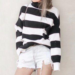 Zara Oversized Striped Turtleneck